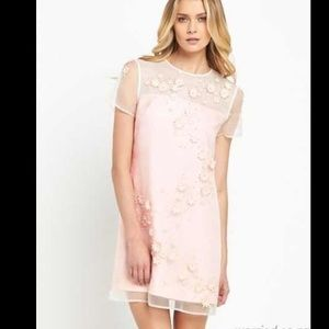 Ted Baker Findon Embellished Silk pink dress NWT